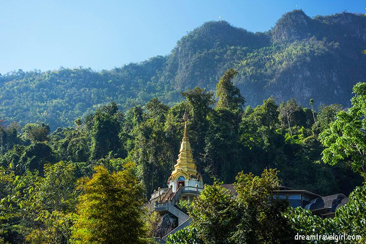 View of Wat Tham Pha Plong, Chiang Dao
