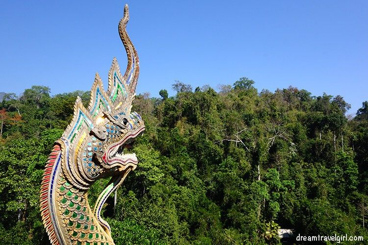 Views of green mountains and deep jungle, Chiang Dao