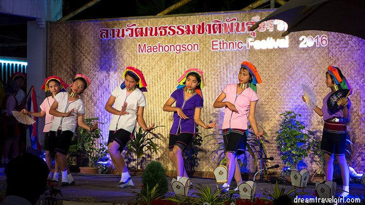Traditional dances at the ethnic festival