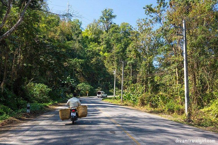 Road from Ban Mae Ma Lai to Huai Nam Dang