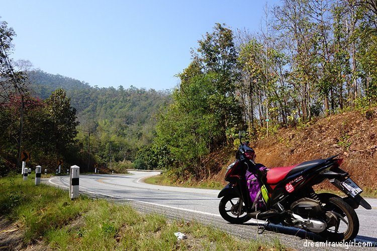 Road and motorbike