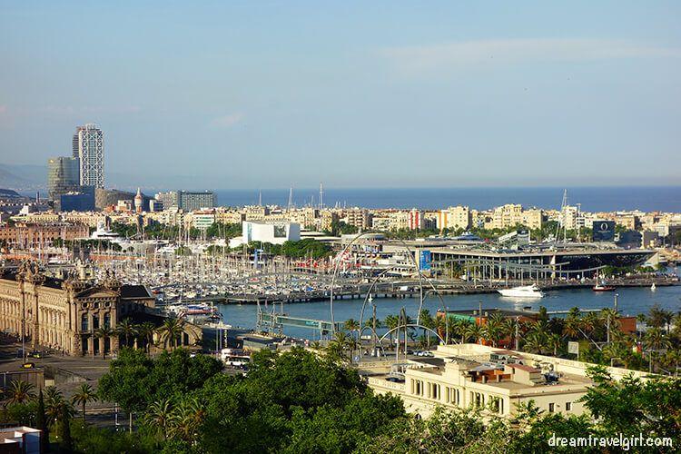 Views of Barcelona from Miramar
