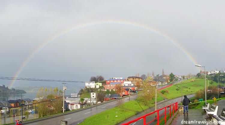Rainbow in Castro, Chiloe