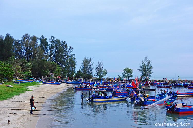 Fishermen's boats in Teluk Kumbar
