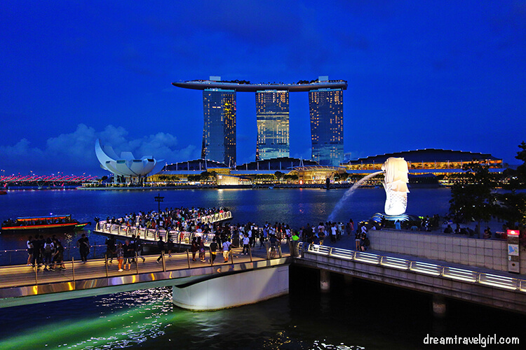 Marina Bay, Merlion and Marina Sands