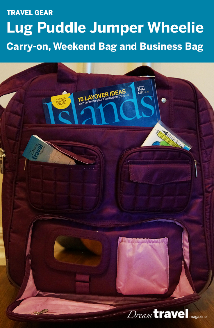 Lug Puddle Jumper Wheelie Bag is a great bag as a carry-on, gym bag or business bag.