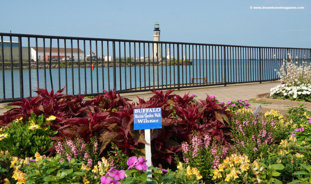 City of Buffalo New York Buzz waterfront gardens lighthouse