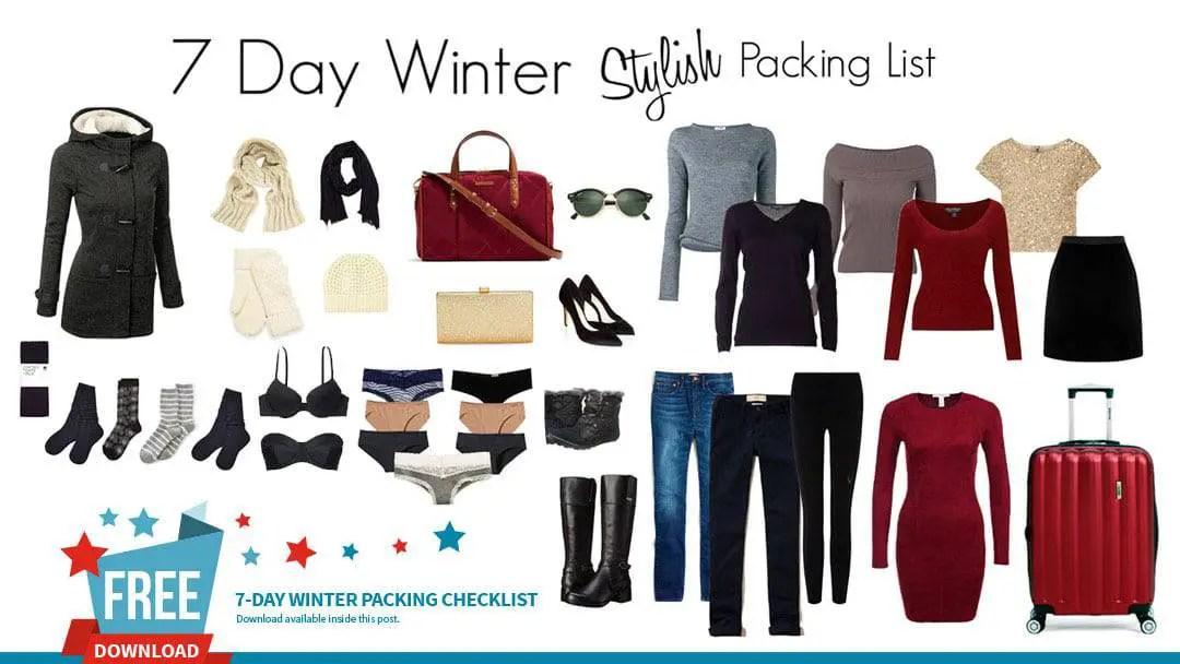 Stylish Winter Packing List – 7 Days