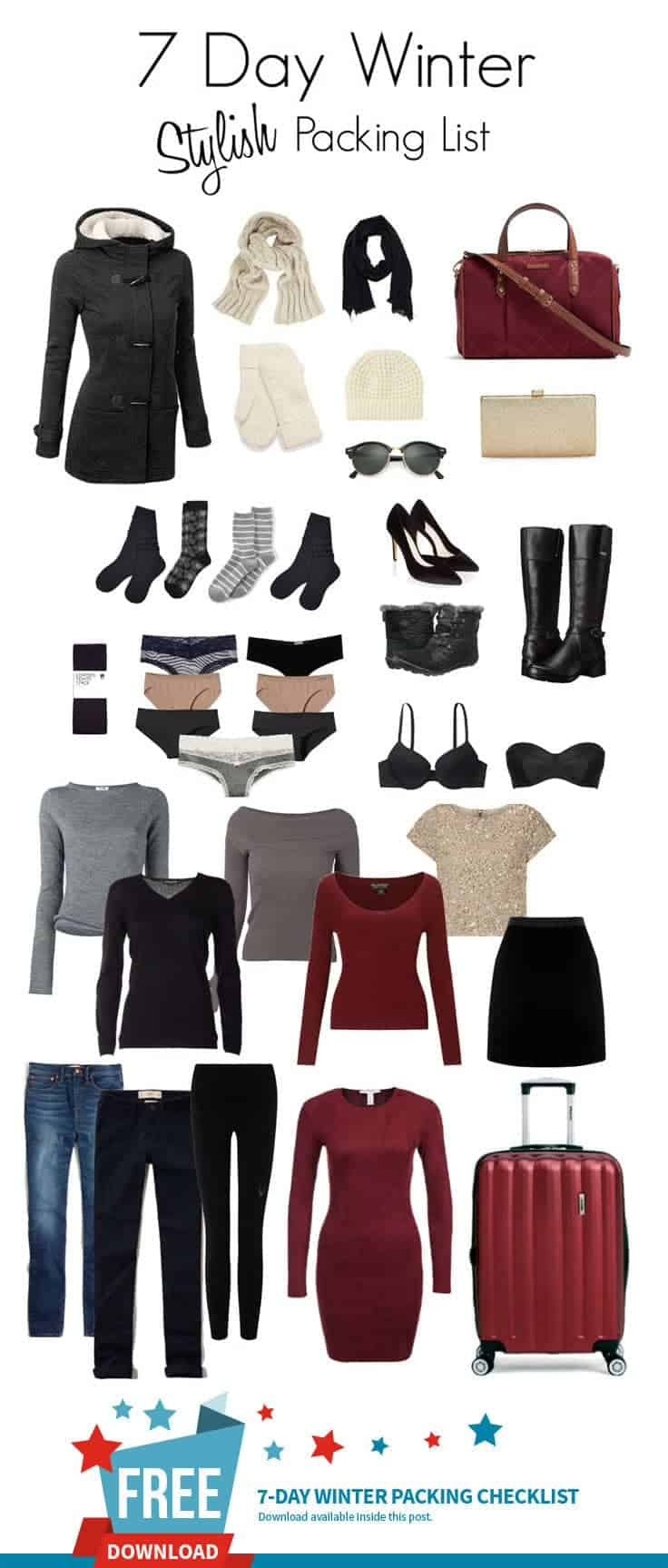 Packing for the winter does not have to be difficult. Pack clothes with two things in mind mix and matching and layering. Complimentary colours and items that can be dressed up or down will make packing for winter vacations in the city a breeze.