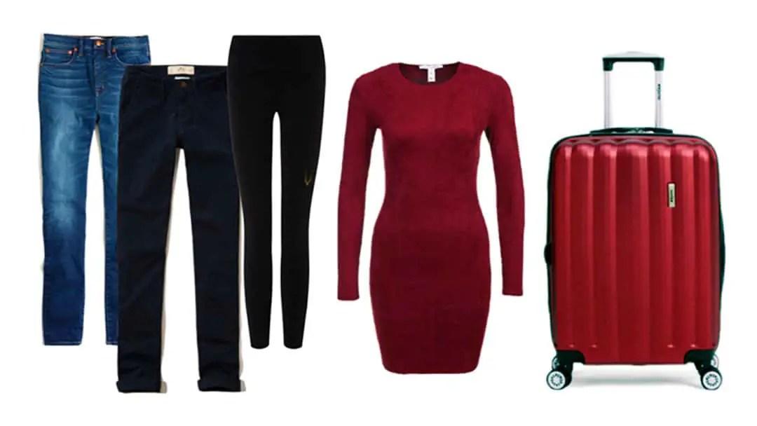 Bottoms: 7-day winter stylish packing lsit