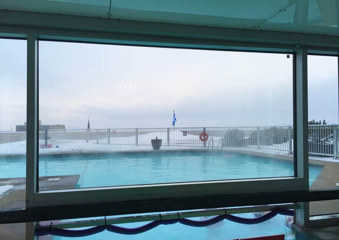 Heated outdoor pool Hilton Quebec City Review