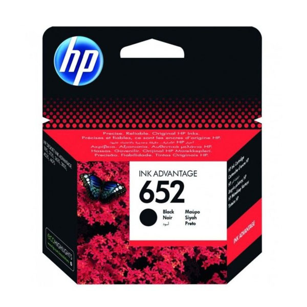 HP 652 Black Ink