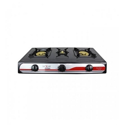 Saisho Three Burner Gas Stove Black Gold