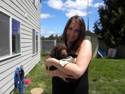 Tate and his new Mommy, Maggie ~ She was so excited!