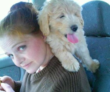 Me and a Puppy -  first car ride..