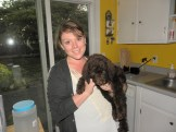 Maybelle in her new home with Julia