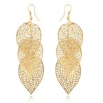 Light Gold color and Silver color metal drop earrings.