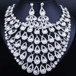 Gorgeous Crystal Necklace and Earring Set.Bridal Jewellry Set.