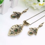 Antique Necklace Set. Earrings Necklace Ring !
