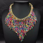 Long Tassel Beads Choker Necklace.Beads Necklace. Indian African Nigerian style.