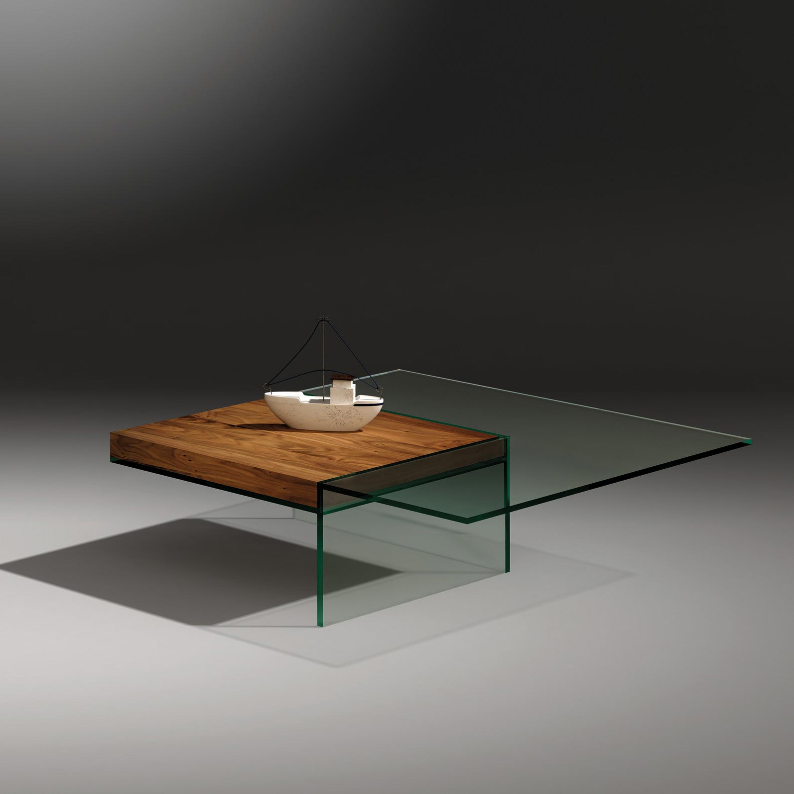 buy glass coffee table with wood