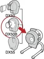 DX-50・50B・55 は、共通の本体を使用し、投入口カバーを換えるだけで様々なスライスに対応できます。(投入口のみ追加でご注文いただけます)