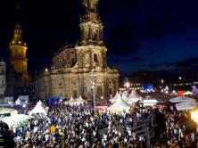 Nachts auf dem Stadtfest
