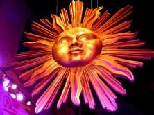 Goldene Sonne im Panometer