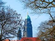 Blick auf das Rathaus Dresden