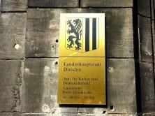 Zionskirche Schild Landeshauptstadt