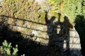 Ausflugsziel Bastei und Felsenburg Neurathen in der Sächsischen Schweiz Schattenspiel