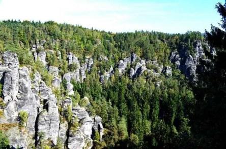Ausflugsziel Bastei große Steine