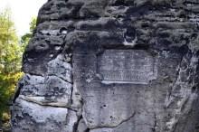 Ausflugsziel Bastei und Felsenburg Neurathen in der Sächsischen Schweiz Tafel