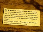 Schild Erklärung Hexenwaage