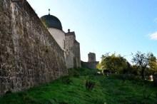Burgmaueransicht BUrg Stolpen