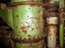 Untertage grüner Behälter
