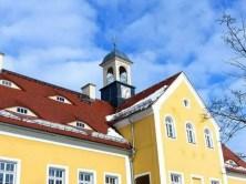 Turm mit Uhr Jagdschloss Grillenburg