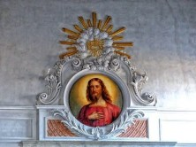 Jesus Bildnis mit Goldverzierung