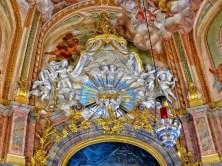 Goldenes Wandbild