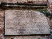 Gedenktafel Schloss Scharfenberg Stein