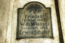 Gedenktafel Frieden Wiesner und Schäfer