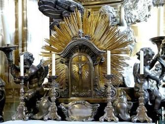 Kerzen Altar Goldbildnis