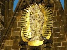 Wandbild gold Heiligenfigur