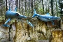 Fischsaurier aus dem Meer Saurierpark Kleinwelka