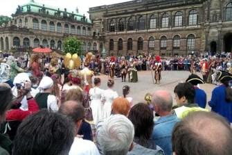 Einzug der Orangen Zwinger Dresden barocke Gesellschaft