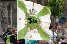 Fahne mit Krone Wappen