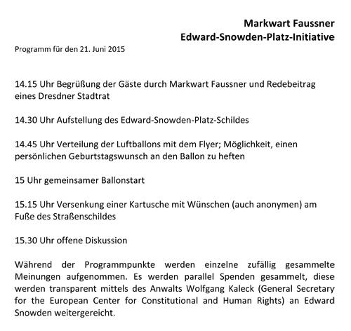 Markwart Faussner. Edward-Snowden-Platz-Initiative, Dresden