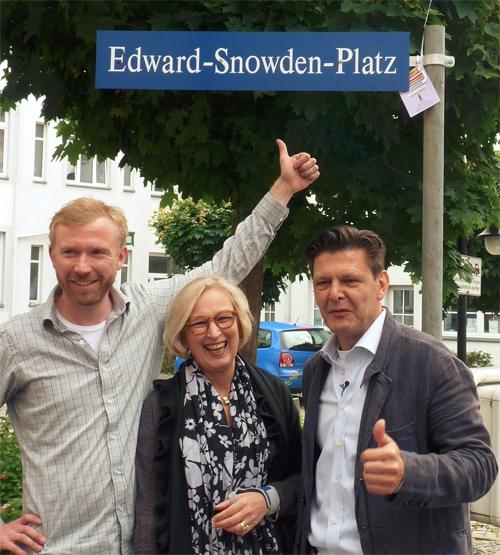 Dresden hat jetzt einen Edward-Snowden-Platz