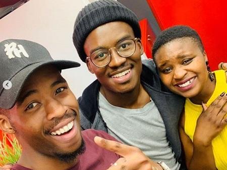 Hungani Ndlovu with siblings