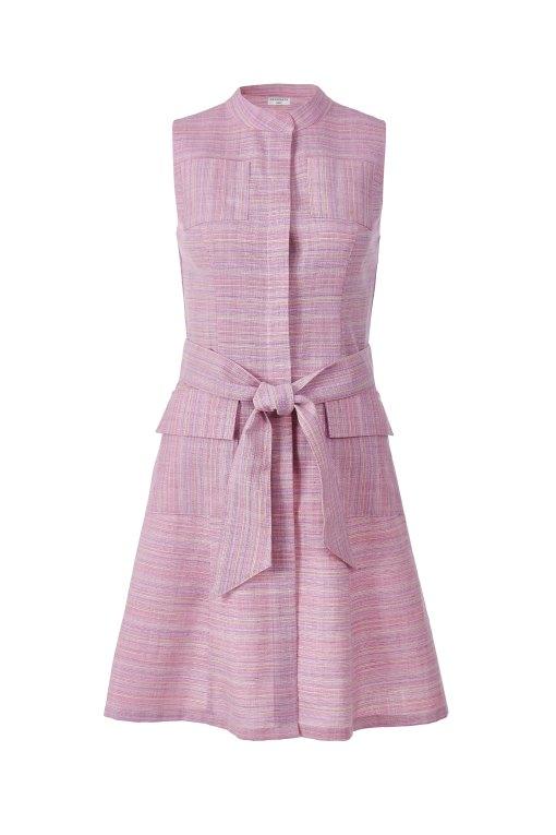 розовое-платье-сафари-на-поясе